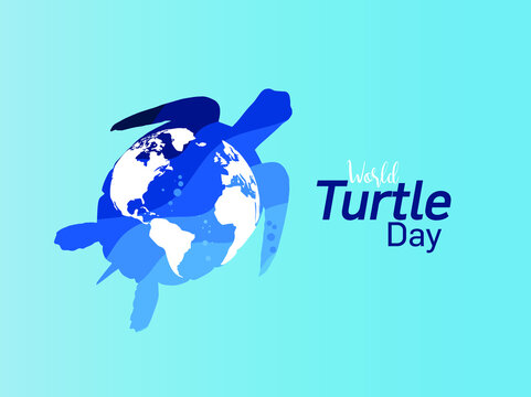World Turtle Day concept background, May 23 vector illustration background.