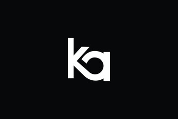 Obraz KA Letter Logo Design. Creative Modern A K Letters icon vector Illustration. - fototapety do salonu