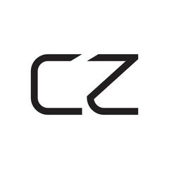 Fototapeta cz initial letter vector logo icon obraz