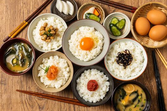 ごはんとおかず Side dishes of rice japanese food