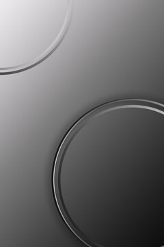 metal effect black and white gradient poster abstract background design.