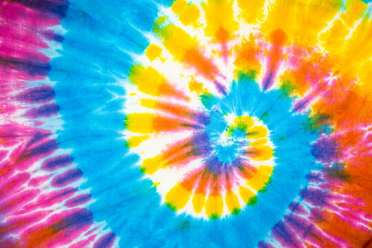 spiral tie dye rainbow color beautiful background.
