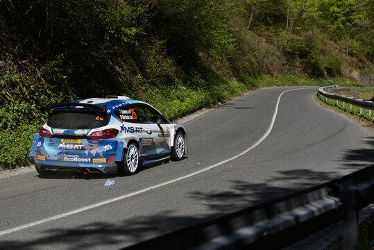World Rally Championship in Zagreb, Croatia.  WRC Fiesta.