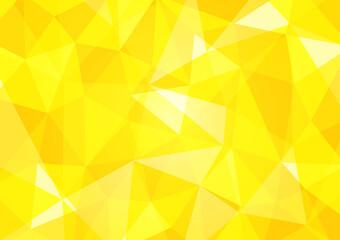 Obraz 黄色のポリゴン背景イラスト 幾何学模様 Polygonal background yellow - fototapety do salonu