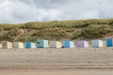 Beach huts at Texel, The Netherlands