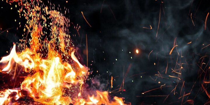 Spark Of Fire Stock Image