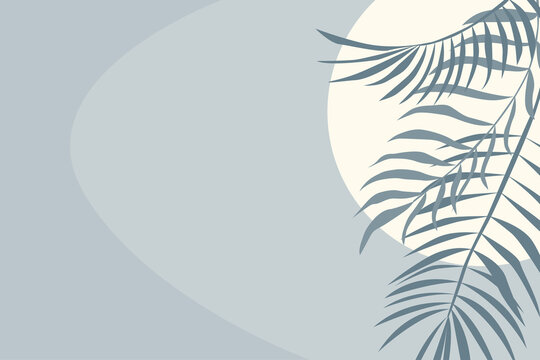 Tropical leaf plant pattern background. Blue colored illustration for design party invitation,  shop poster, summer tuorism flyer etc.