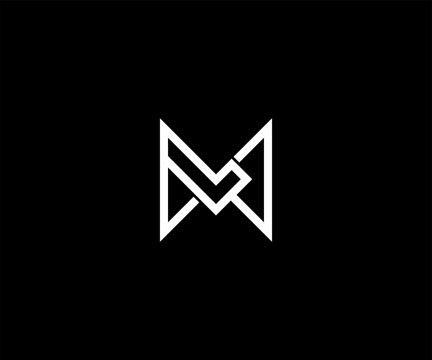 Letter ML LM logo design vector illustration