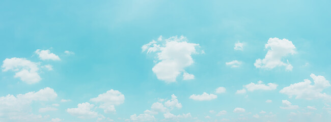 Fototapeta Beautiful panorama blue sky and clouds with daylight natural background. Vintage color tone style. obraz