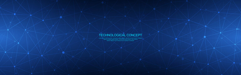 Abstract geometric background with polygonal plexus texture for banner design template or website header
