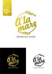 percom, logo, logotype, premium food, a'la mare - fototapety na wymiar