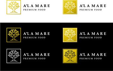 percom, logo, logotype, premium food, a'la mare