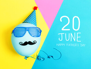 Obraz Father's Day message with party balloon - fototapety do salonu