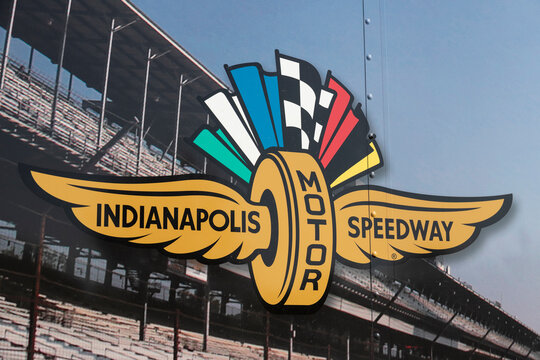 Indianapolis - Circa May 2021: Indianapolis Motor Speedway logo. IMS is preparing for the Indy 500 and Brickyard 400 in the age of Social Distancing.