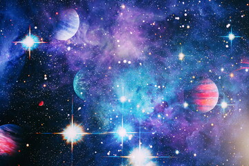 Fototapeta High quality space background. explosion supernova. Bright Star Nebula. Distant galaxy. Abstract image. Elements of this image furnished by NASA obraz
