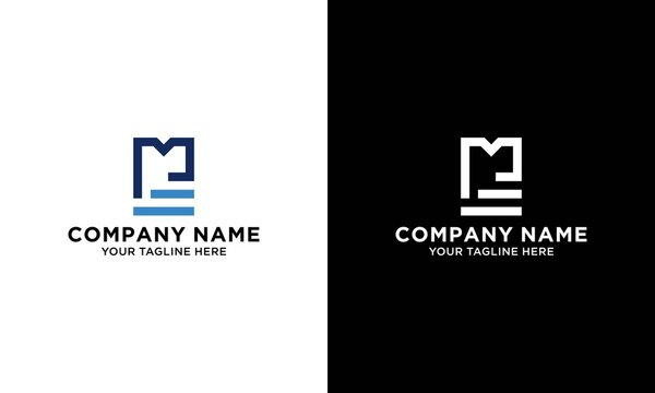 Initial letter letter m and ladder logo illustration.
