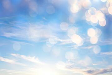 Obraz Clouds bokeh abstract bright summer wallpaper nature sky - fototapety do salonu