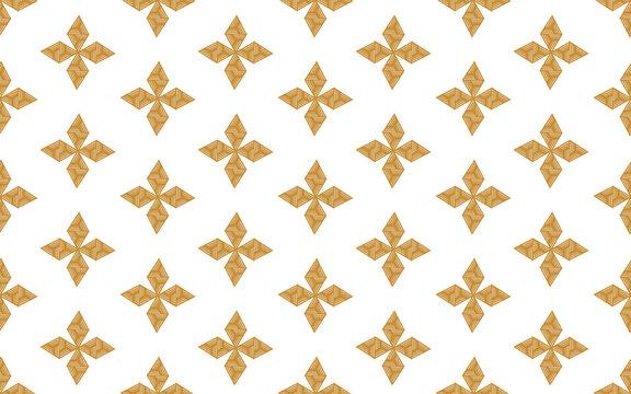 Modern style yellow geometric pattern design