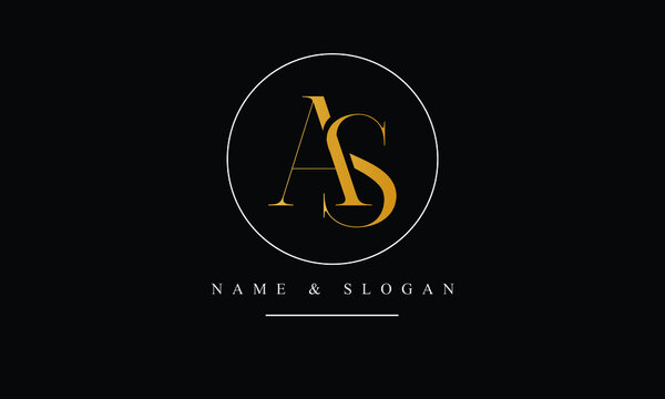 SA, AS, S, A abstract letters logo monogram