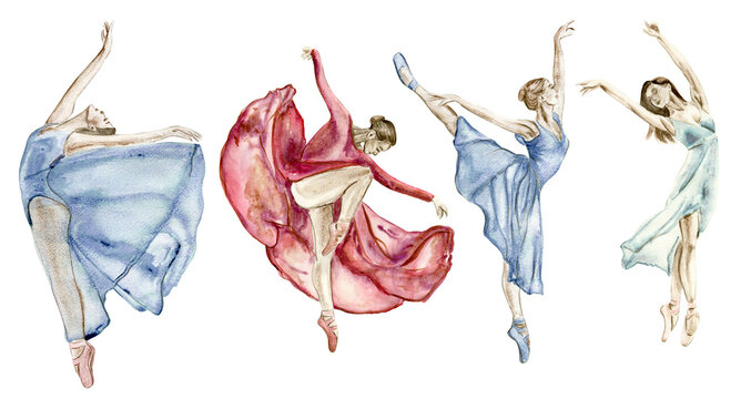 A set of dancing women