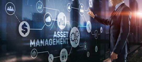 Asset Management. Financial real estate management concept - fototapety na wymiar