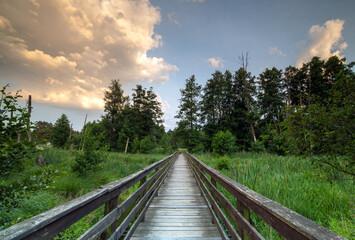 Fototapeta Drewniany stary most w parku obraz