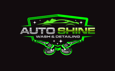 Obraz Illustration vector graphic of auto detailing servis logo design template-05 - fototapety do salonu