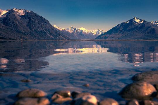 Sunrise on Lake Tekapo, Canterbury, New Zealand