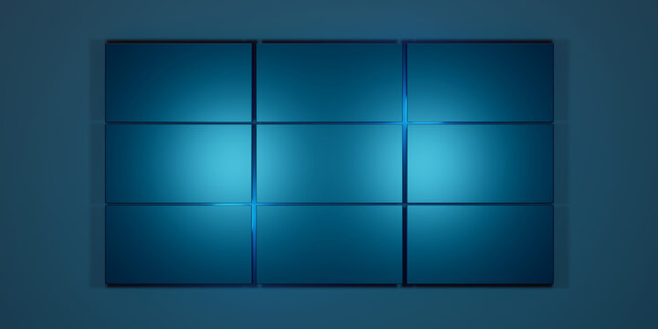 Blue panels and blue lights background