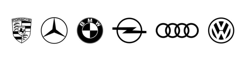 German auto company brand logo set.Editorial image. VINNITSIA, UKRAINE. MAY 21, 2021.