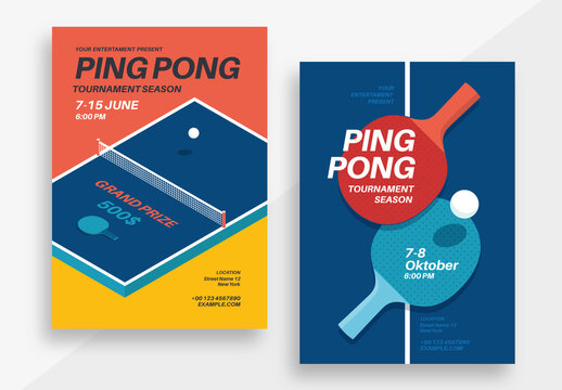 Ping Pong Tournament Poster Layout