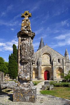 Church Saint-Pierre in Aulnay, Charente-Maritime, Poitou-Charentes. UNESCO World Heritage Site - the Pilgrim's Road to Santiago de Compostela, France