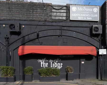 Strip club frontage