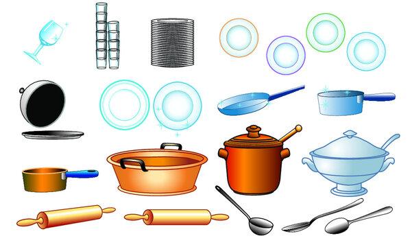 vaisselle plats cuisine