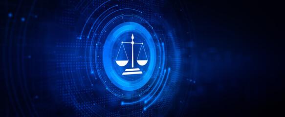 Fototapeta Attorney at law online lawyer legal advice wb service. obraz