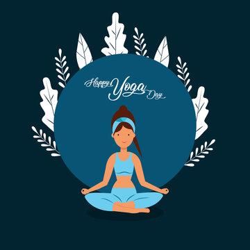 Yoga Day Vector Art Design