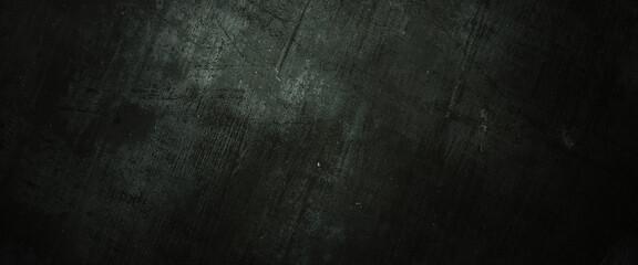 Obraz Scary dark walls, slightly light black concrete cement texture for background - fototapety do salonu
