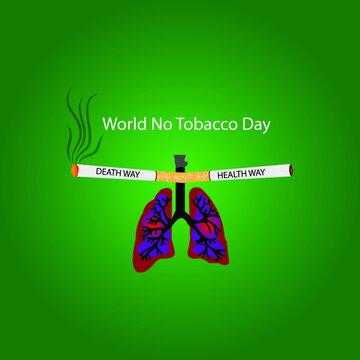 world no tobacco day web banner design. illustration vector