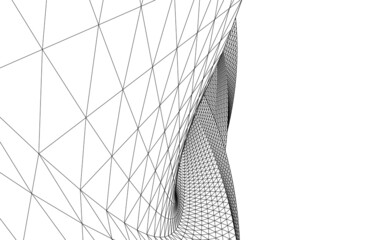 Fototapeta abstract architectural drawing 3d view obraz