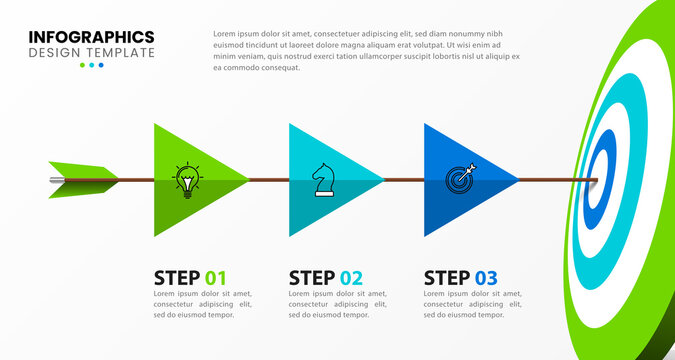 Infographic design template. Creative concept with 3 steps