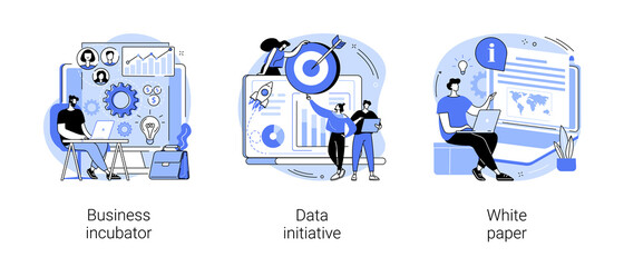 Obraz Startup development abstract concept vector illustrations. - fototapety do salonu