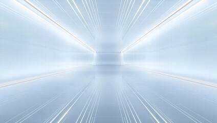 Fototapeta uturistic tunnel with light. Abstract Spaceship corridor. Future interior background, sci-fi science concept. 3D rendering obraz