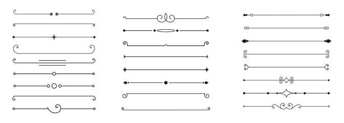 Obraz calligraphic ornamental divider collection - fototapety do salonu