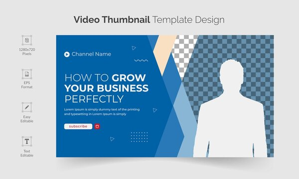 corporate youtube video thumbnail or video thumbnail template design to promote your channel