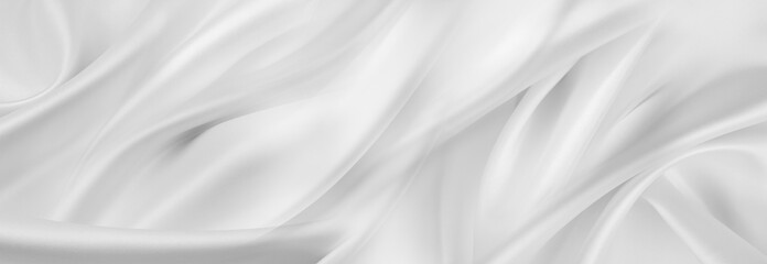 Obraz White silk fabric lines - fototapety do salonu