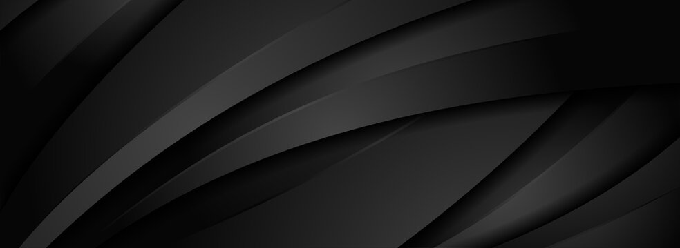 Abstract Dynamic Black Background with Various Shape Design. Usable for Background, Wallpaper, Banner, Poster, Brochure, Card, Web, Presentation. Vector Illustration Design Template.