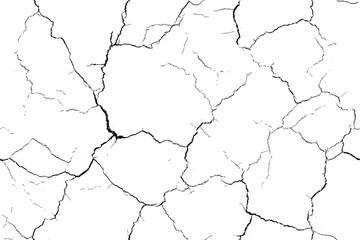 Fototapeta Cracked seamless pattern texture. Black repeated cracks on white background. Noise Fashion Pop Art Design Pattern. obraz