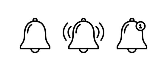 Obraz Bell notification line icon, Bell notification symbol vector  - fototapety do salonu