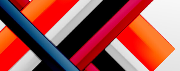 Obraz Multicolored lines background. Design template for business or technology presentations, internet posters or web brochure covers - fototapety do salonu