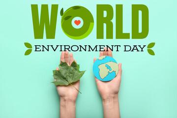 Obraz Awareness card for World Environment Day - fototapety do salonu